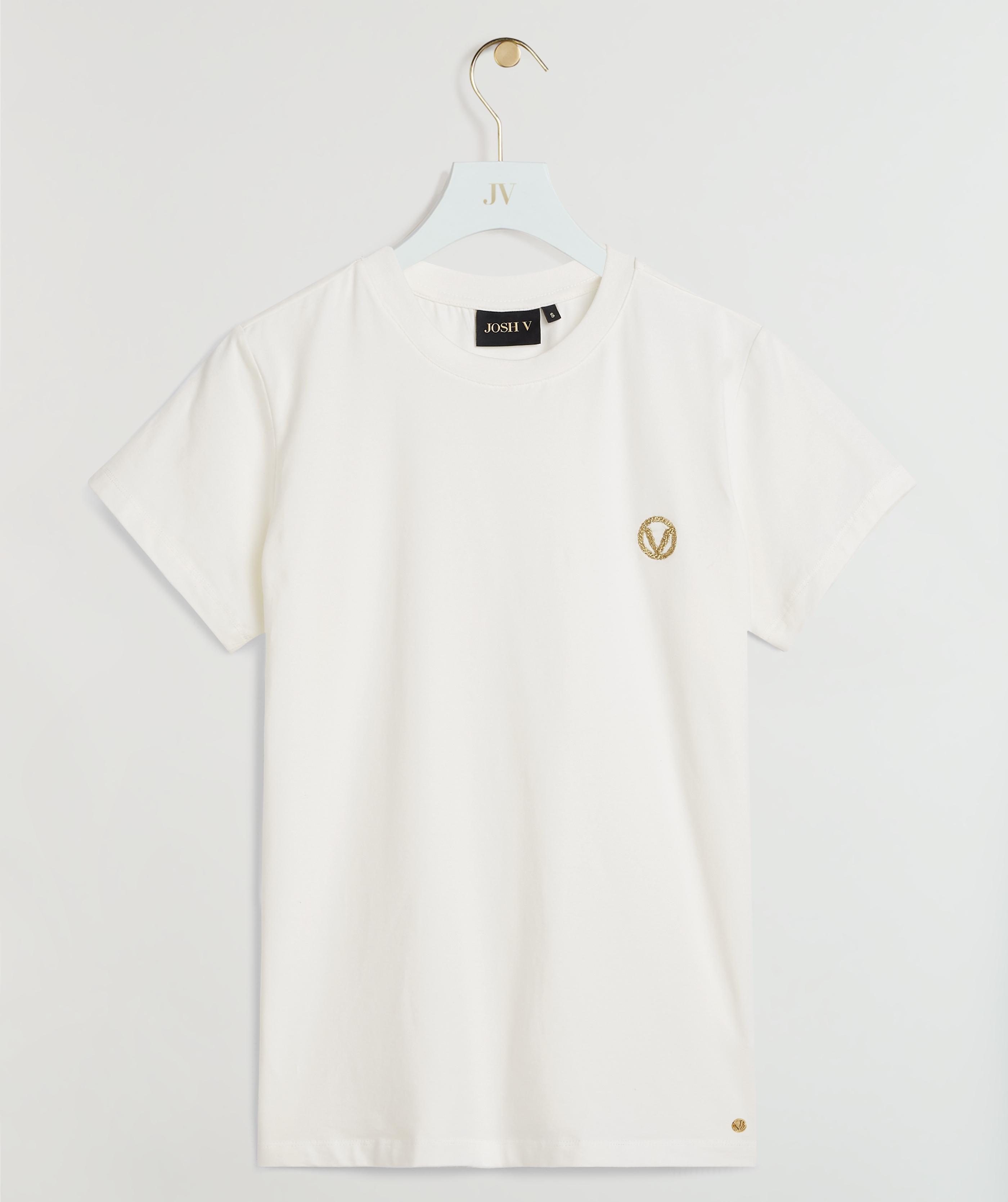 JOSH V JV ZOE LOGO T-shirt Wit
